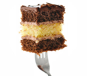 Layered Cake Bite