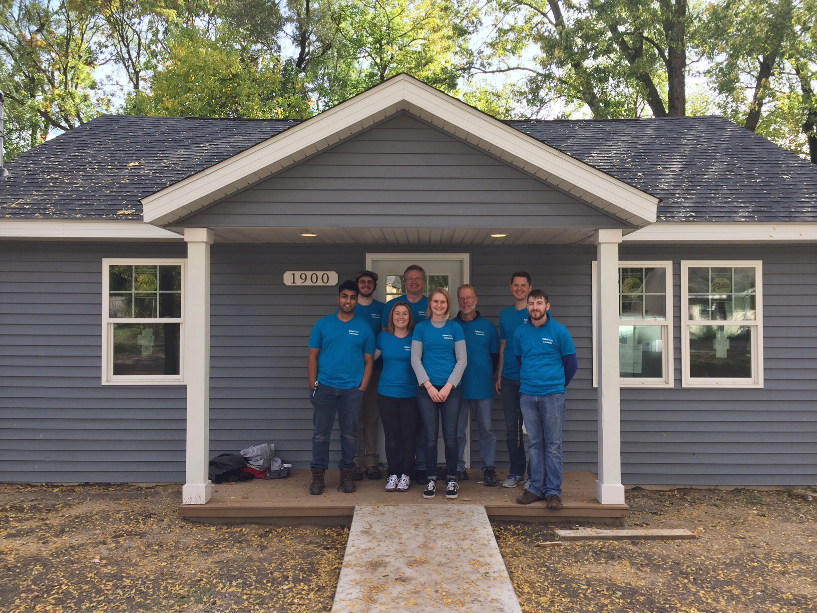 salespage group at habitat for humanity, 2017