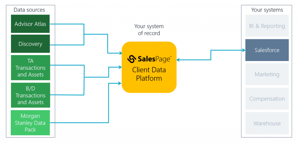 SalesPage CDP delivers data to Salesforce