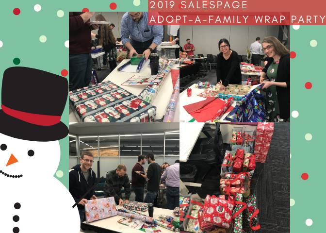 adopt-a-family wrap party