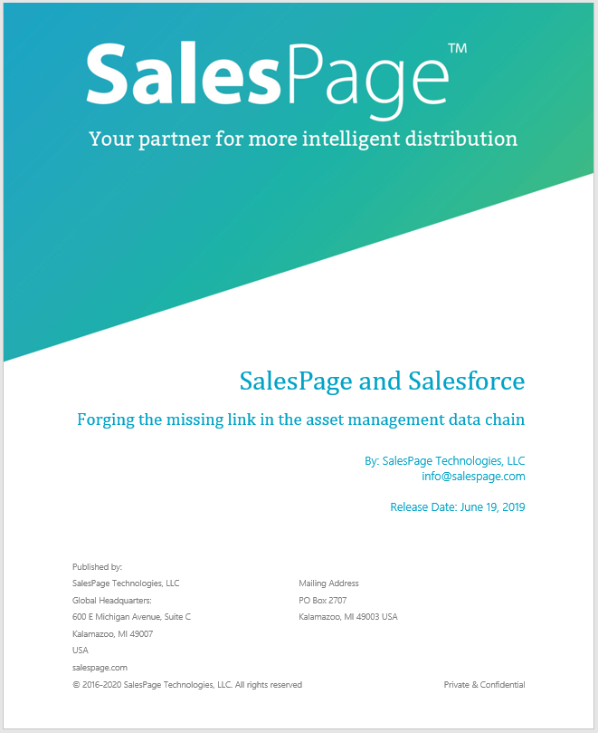 SalesPage and Salesforce white paper
